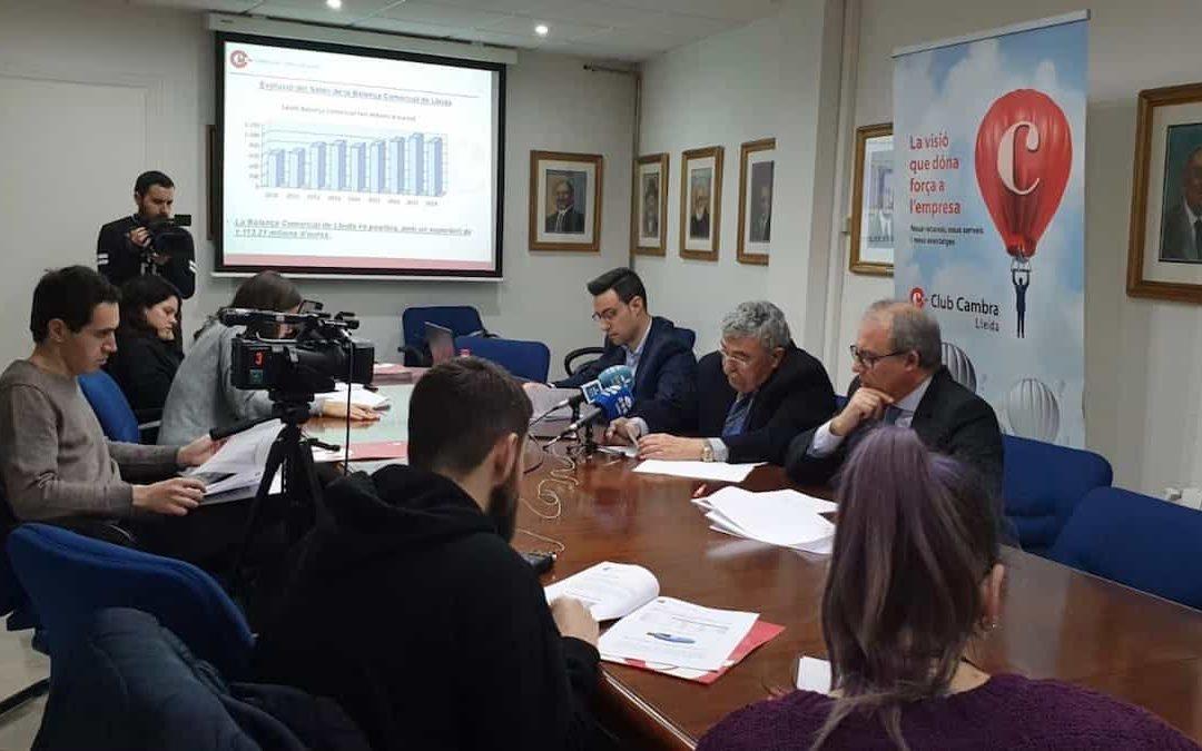 La Balança Comercial de Lleida bat un nou récord d'exportacions el 2018