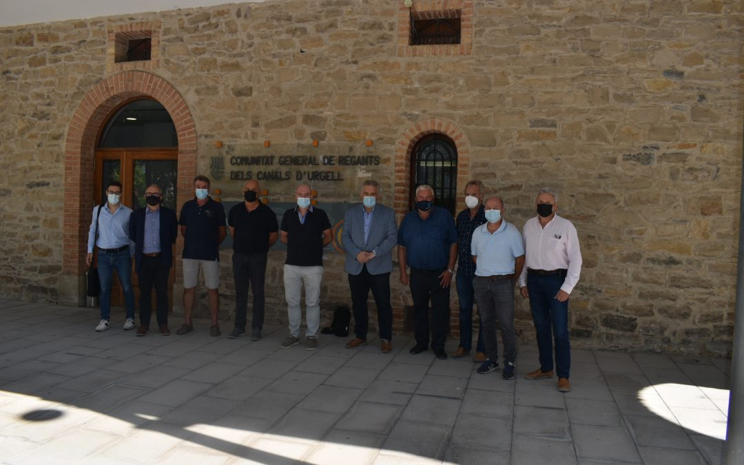 La Cambra de Comerç de Lleida coneix in situ el nou Pla de Modernització del Canal d'Urgell